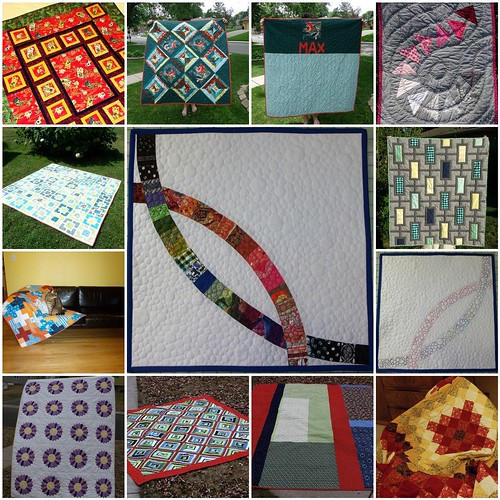 Completed Quilts blogiversary mosaic