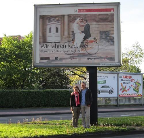 Hochzeitsbild des Jahres 2011 wirb in Köln fürs Radfahren  Michael ...