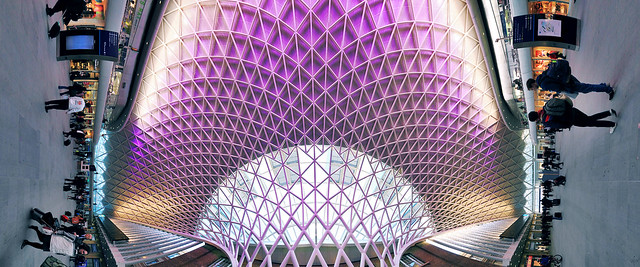 20120423_F0001: New King's Cross ceiling vertical panorama