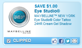 Maybelline Color Tattoo Cream Gel Shadow Coupon