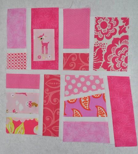 Candy Pink Mod Mosaic Block