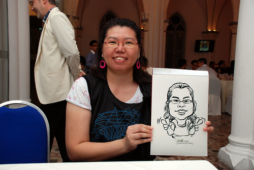 caricature live sketching for Intel Mobile Communications Year-End celebrations - 10