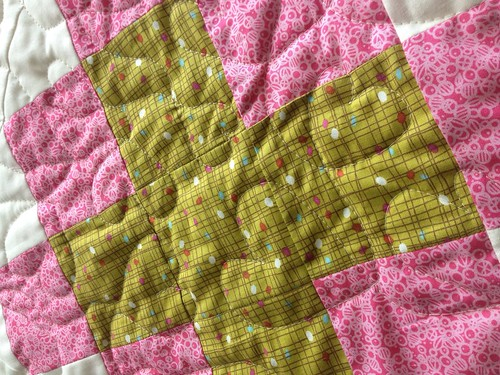 James Baby Quilt Quilting Closeup