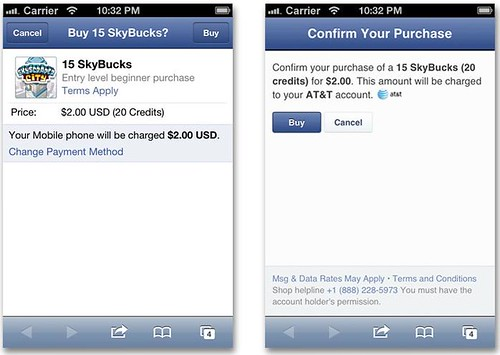 Facebook Carrier Billing