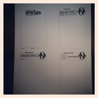 Hanson journalling blocks
