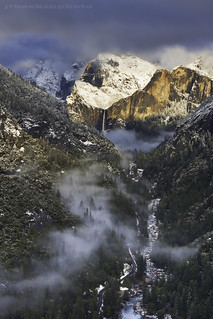 Winter Storm and Bridalveil - Yosemite National Park