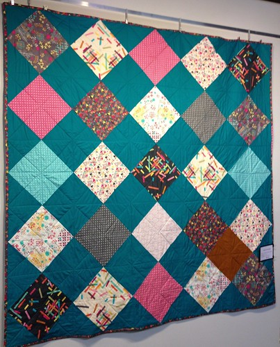 Hanging for quilt show tonight!