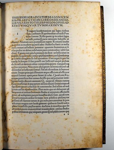 Caption title from Aristoteles: De animalibus
