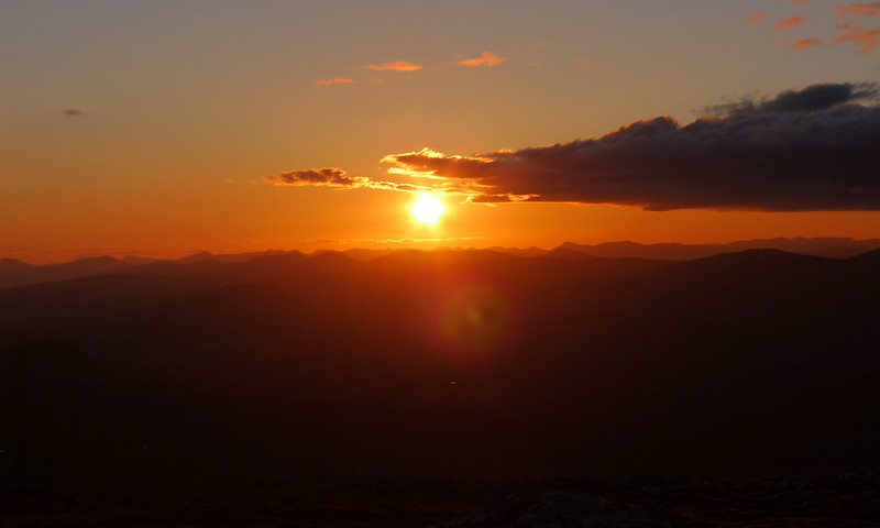 Sunset over the Western Mountains