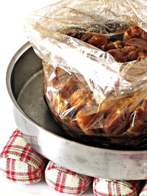 Pollo al Cartoccio marinato al Miele di Castagno e Vincotto PrimitivO