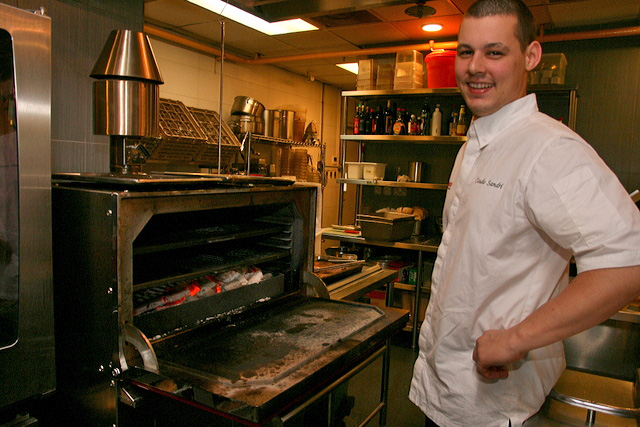 The young and talented Chef Claudio Sandri with the Josper