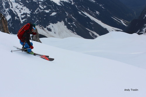 Mt Sahale, North Cascades.... Skier Mike Traslin