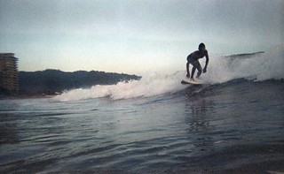 Image of  Playa Jacó  near  Jacó. ocean film beach iso800 costarica surf waves fuji surfing xray disposablecamera jaco disposable damages damagedfilm jacó