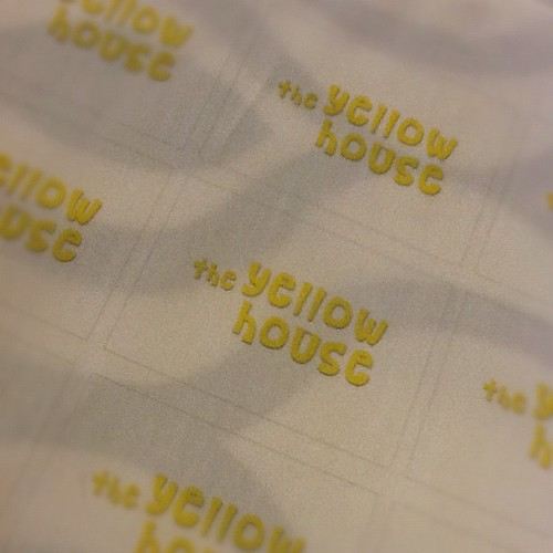 Ha! Home-printed fabric labels. AMAZING.