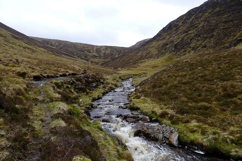 The track through Coire Mhoraigein