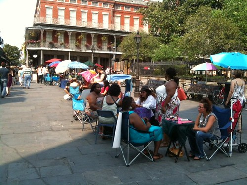 Readers at Jackson Square by Postcards from UAC