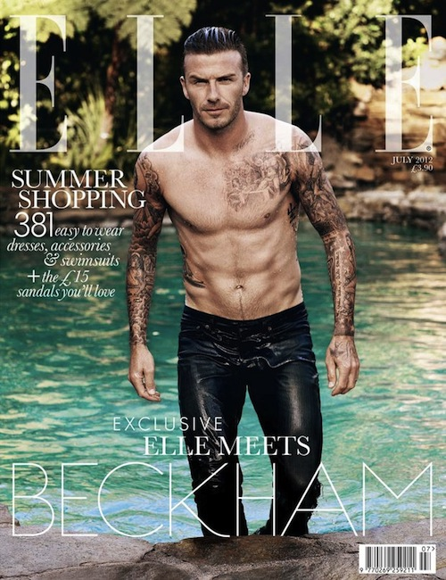 david-beckham-Elle uk cover july 2012 topless