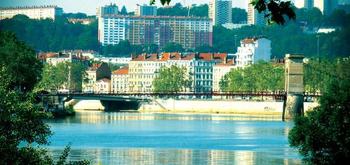 Passerelles de la Saône à Lyon