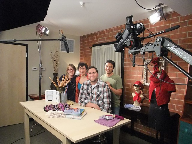 on the set of Craftsy