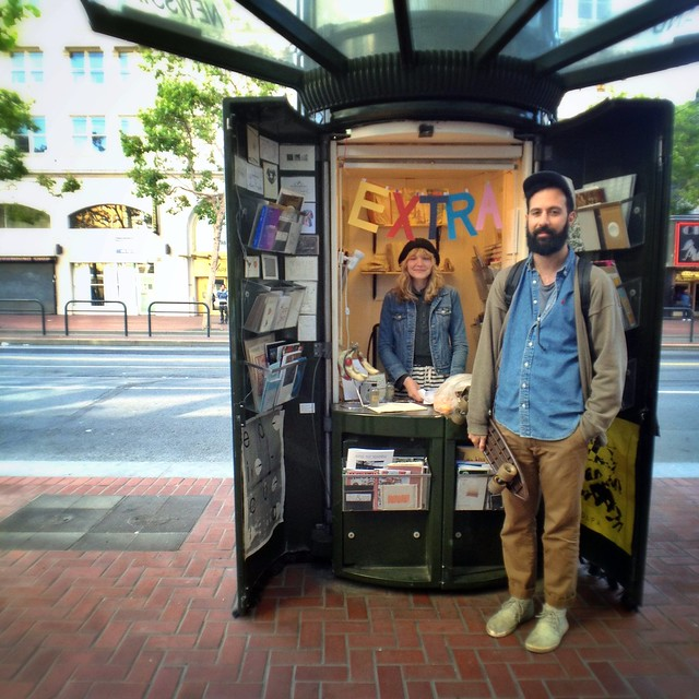 Edicola - pop up zine shop on Market St.