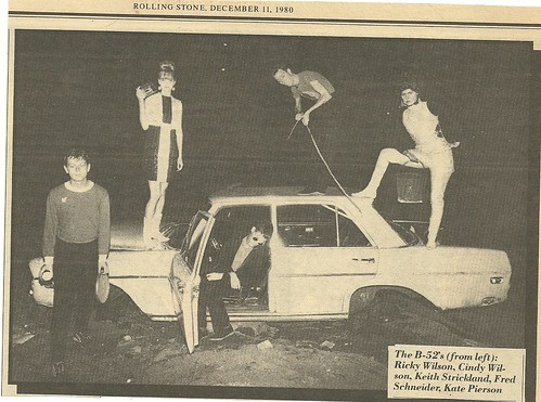 B-52's In The Alley Behind CBGB's (Rolling Stone Magazine 12-11-80)