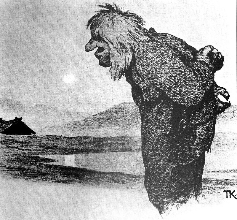 Theodor Kittelsen - The Troll and the Dyre