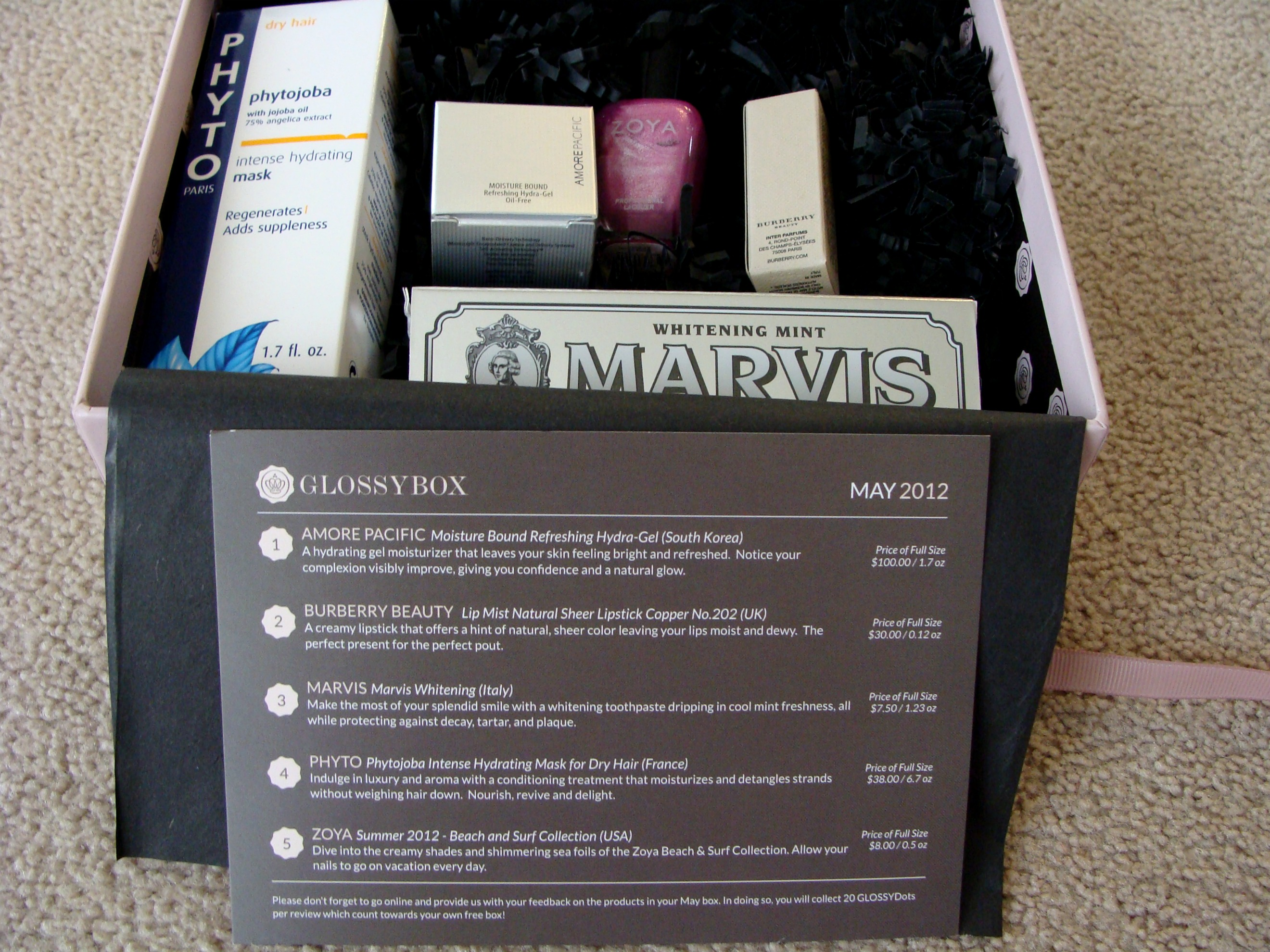 GlossyBox US // 2012 May Box Review