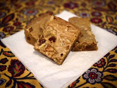 Ginger Chocolate Blondies