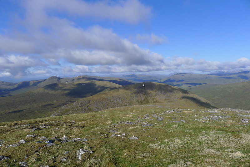 Southwest over Sgor Gaibhre and Carn Dearg