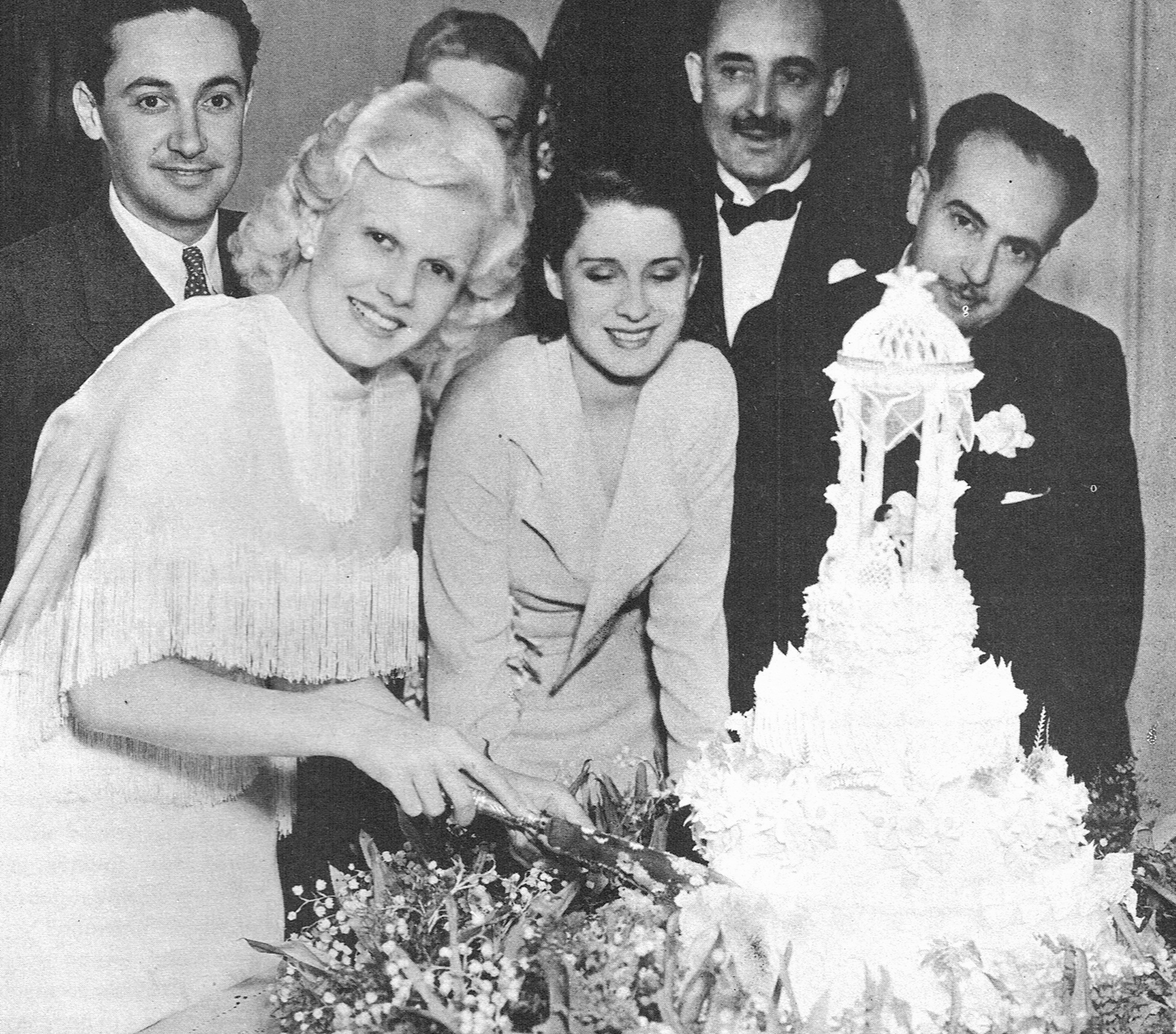 Jean Harlow and Paul Bern's wedding reception