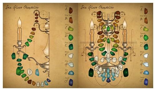 Modelos de chandelier hecho con piedras de vidrio
