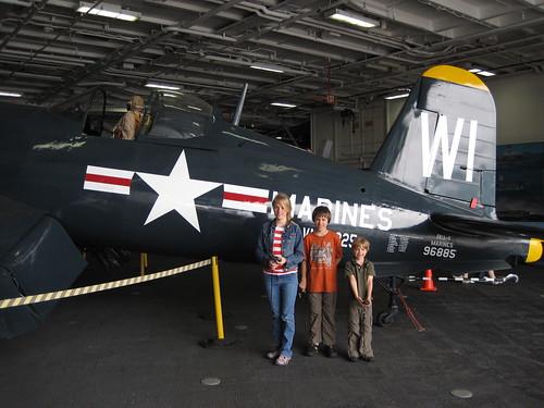 Three Junior Pilots on Midway