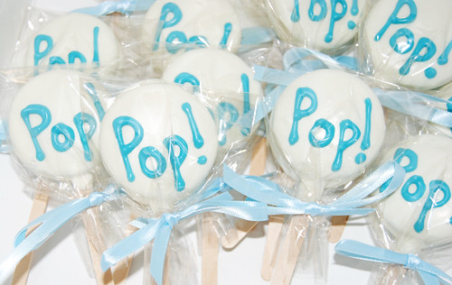 Oreo Pops for a Shes About to Pop themed baby shower