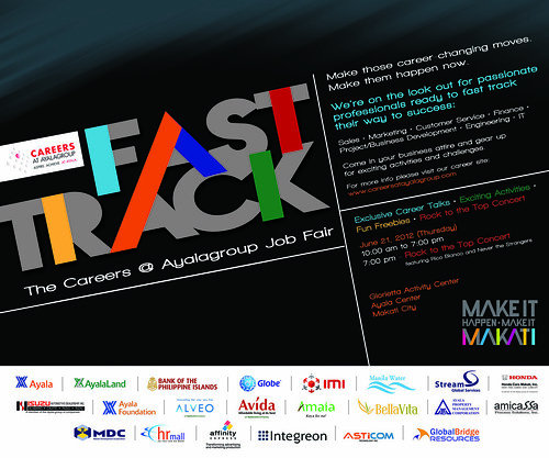 Fast Track: Ayala Group Jobs Fair Poster