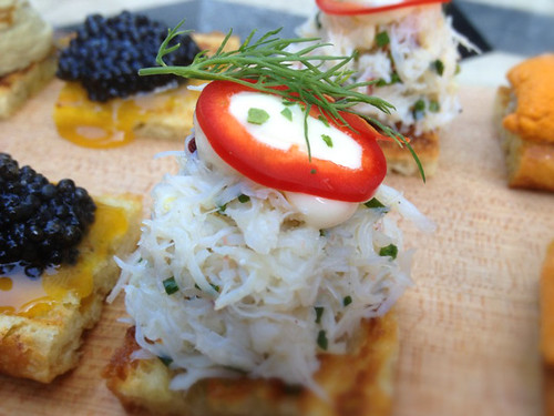 Dungeness Crab Crostini at Whist Santa Monica