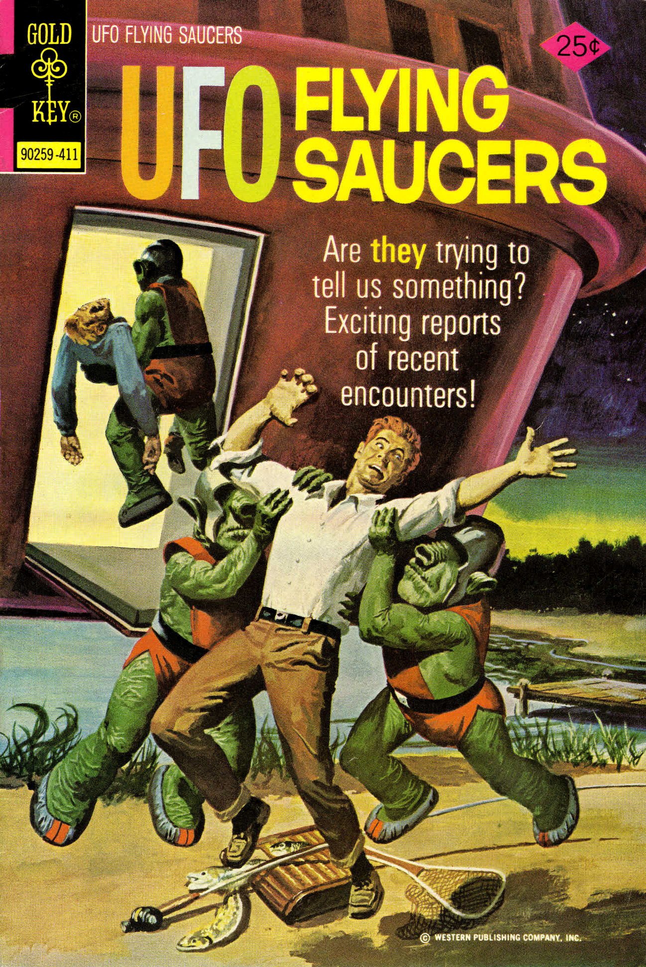 UFO Flying Saucers #4, George Wilson Cover Art (Gold Key, 1974)