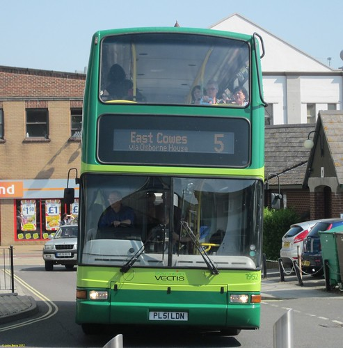 Southern Vectis Plaxton President bodied Volvo B7TL PL51LDN at Newport Bus Station 25 May 2012
