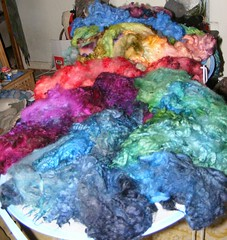 Mule fleece, dyed