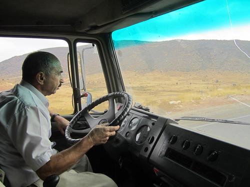 Cruzando Mesopotamia en camión.
