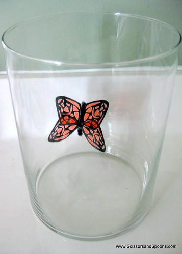 DIY Butterfly Jar Adding Butterflies