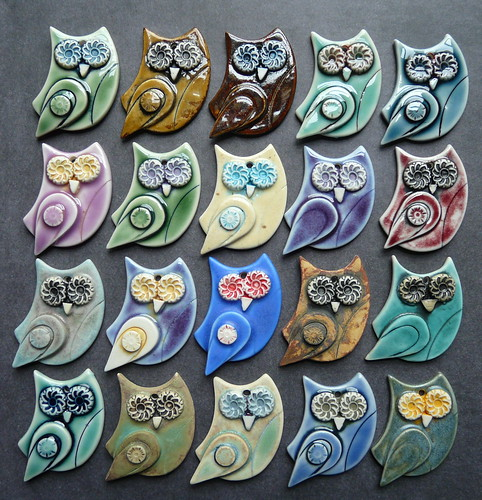 Porcelain owls