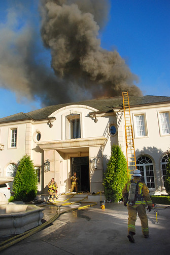 Los Angeles Firefighters Save Beverly Park Mansion