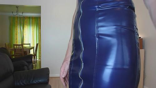 New latex dress...