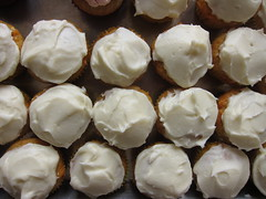 Carrot Cupcakes with Maple Cream Cheese Icing