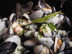 animal(0.0), clam(0.0), fish(0.0), produce(0.0), escargot(0.0), oyster(1.0), seafood(1.0), food(1.0), dish(1.0), cuisine(1.0), clams, oysters, mussels and scallops(1.0), mussel(1.0),