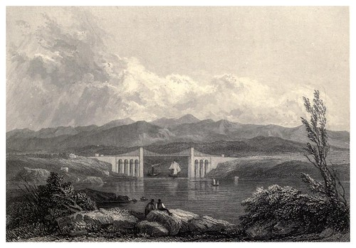 008- El puente Menay-Wanderings and excursions in North Wales (1853)- Thomas Roscoe