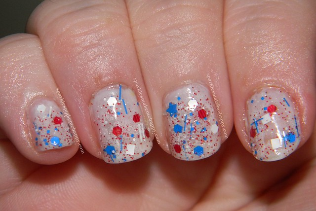Amy's Nail Boutique Liberty over Essie Marshmellow