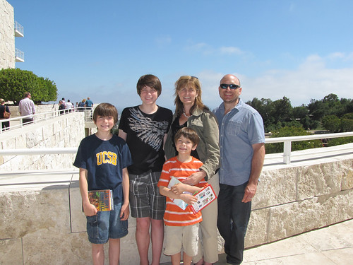 Family at the Getty Center