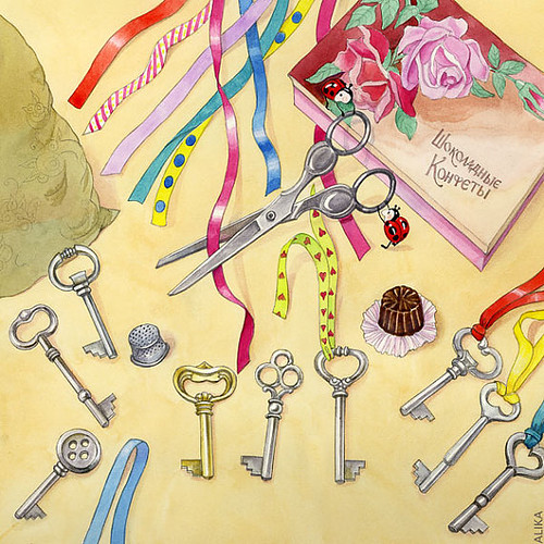 Keys and ribbons by Alika-Rikki
