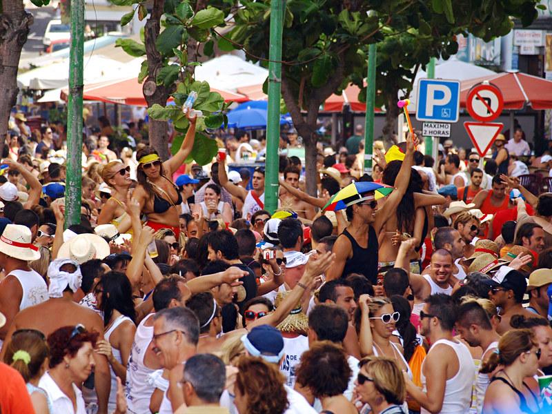 Calle Perdomo at Fiestas del Carmen, Puerto de la Cruz, Tenerife